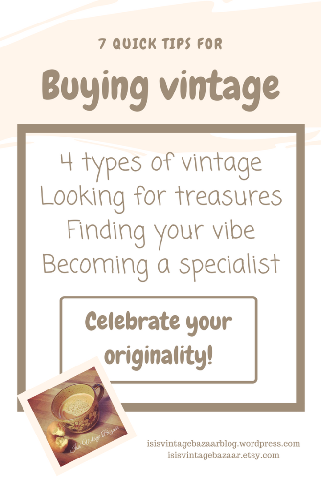 Quick tips for buying vintage