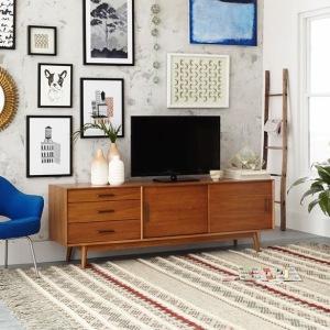 Brown retro tv stand