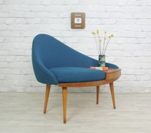 Vintage telephone seat from mid century
