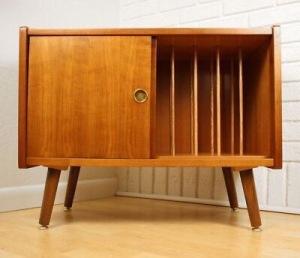 Vintage record cabinet